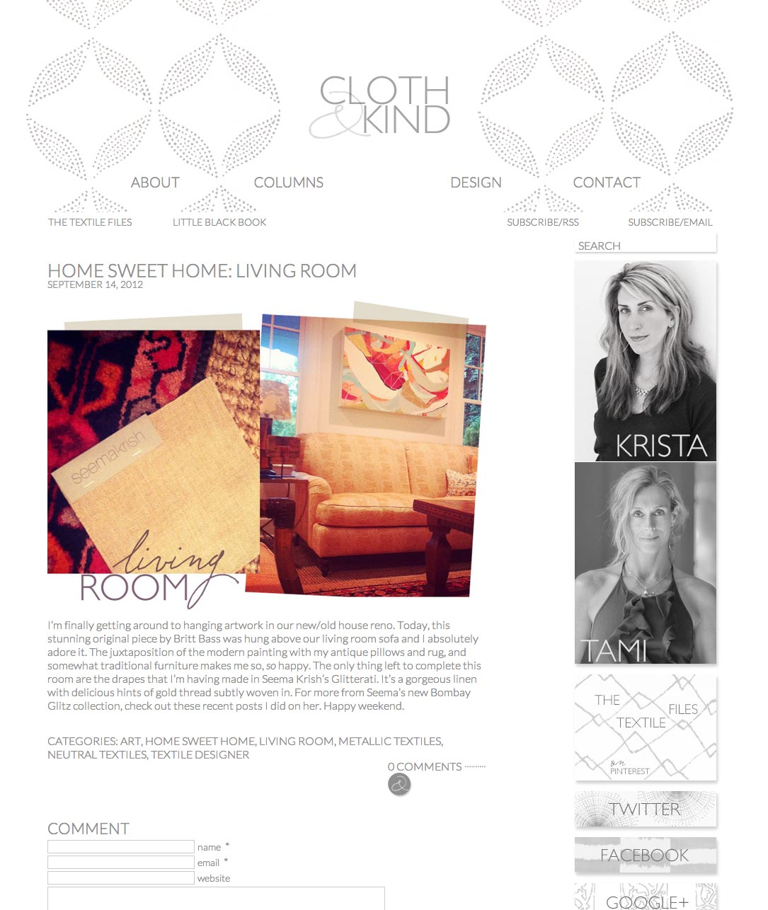 Cloth And Kind - September 2012