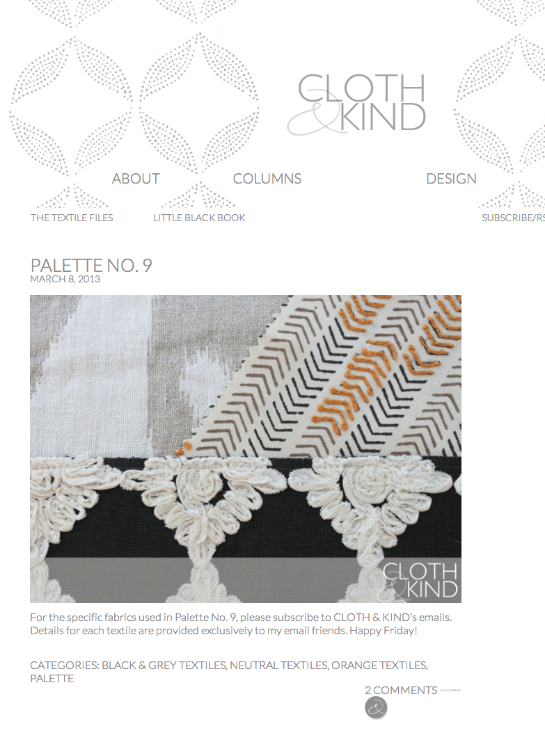 Cloth & Kind - March 2013